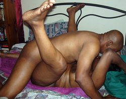 Older Black exhibitionists and swingers..