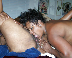 Sex games of afro-american swingers