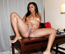 Totally naked ebony wives flashing..
